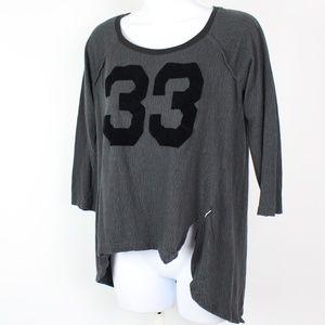 adidas dark gray henley t-shirt velvet graphic #33